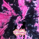 Pink and black tie dye minky fabric
