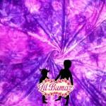 Purple tie dye minky fabric